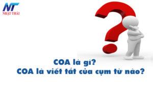 COA là gì? COA là viết tắt của cụm từ nào?