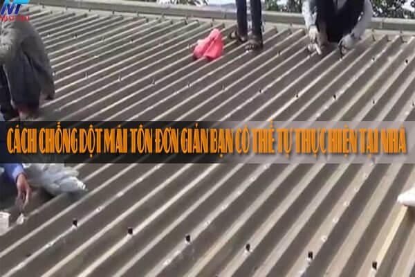 Cách chống dột mái tôn đơn giản bạn có thể tự thực hiện tại nhà